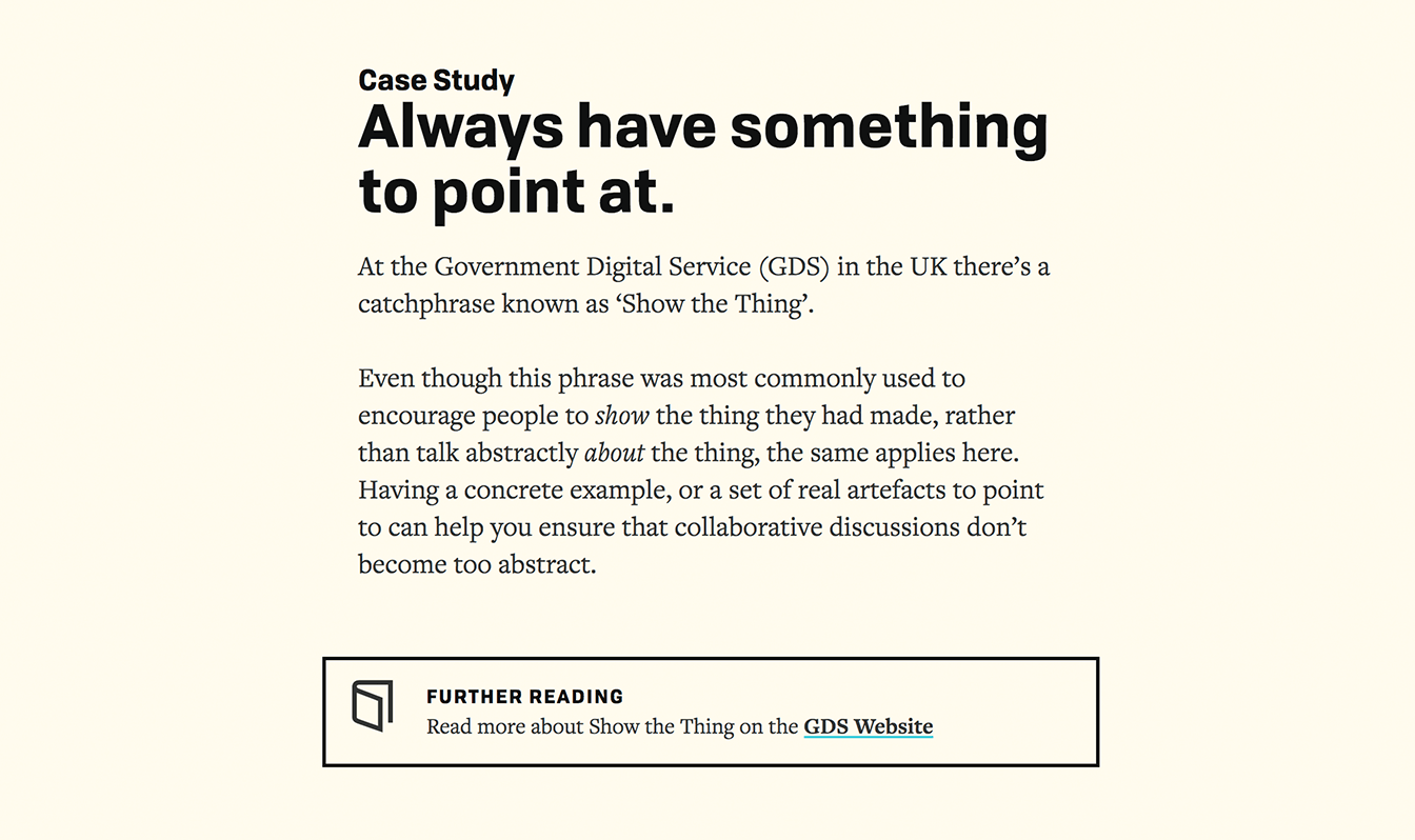 A case study section of the read online version of the Collaborate book